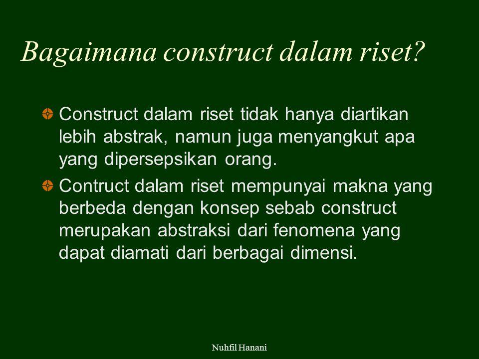 Bagaimana construct dalam riset