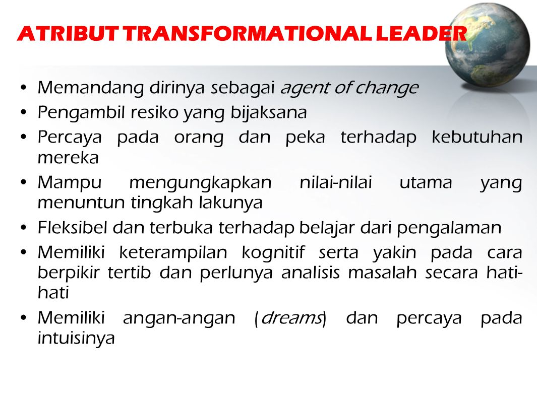 ATRIBUT TRANSFORMATIONAL LEADER