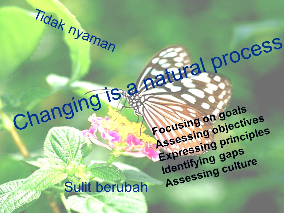 Changing is a natural process