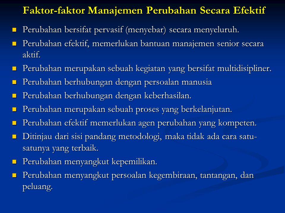 Faktor-faktor Manajemen Perubahan Secara Efektif