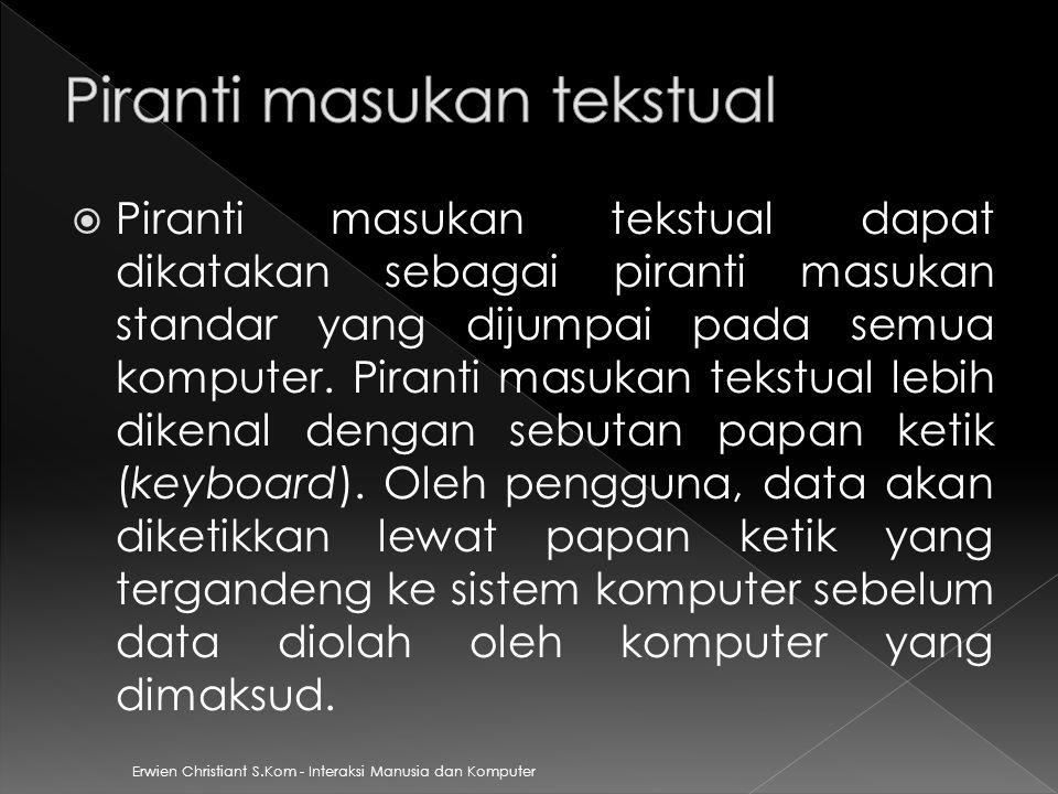 Piranti masukan tekstual