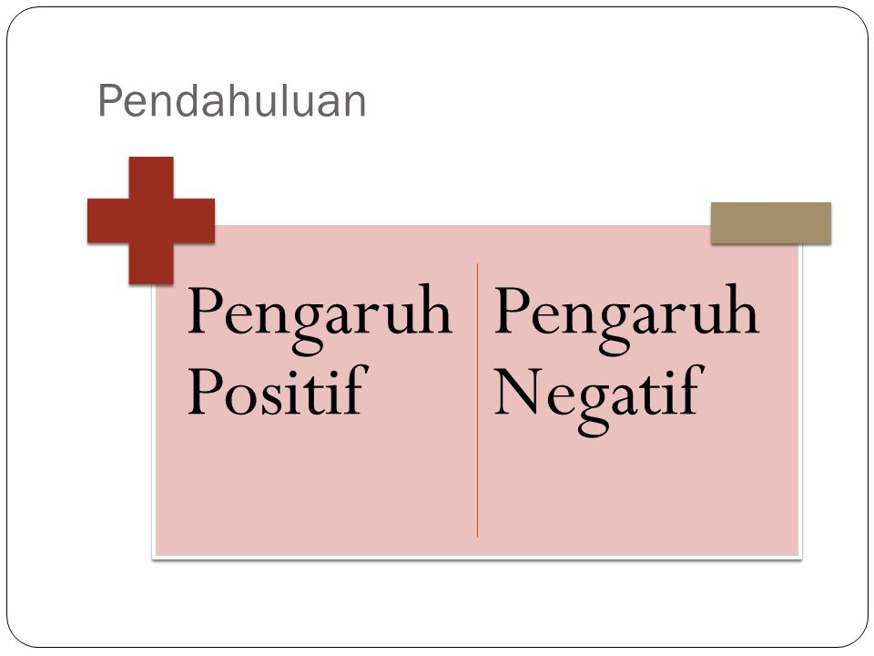 Pendahuluan Pengaruh Positif Pengaruh Negatif