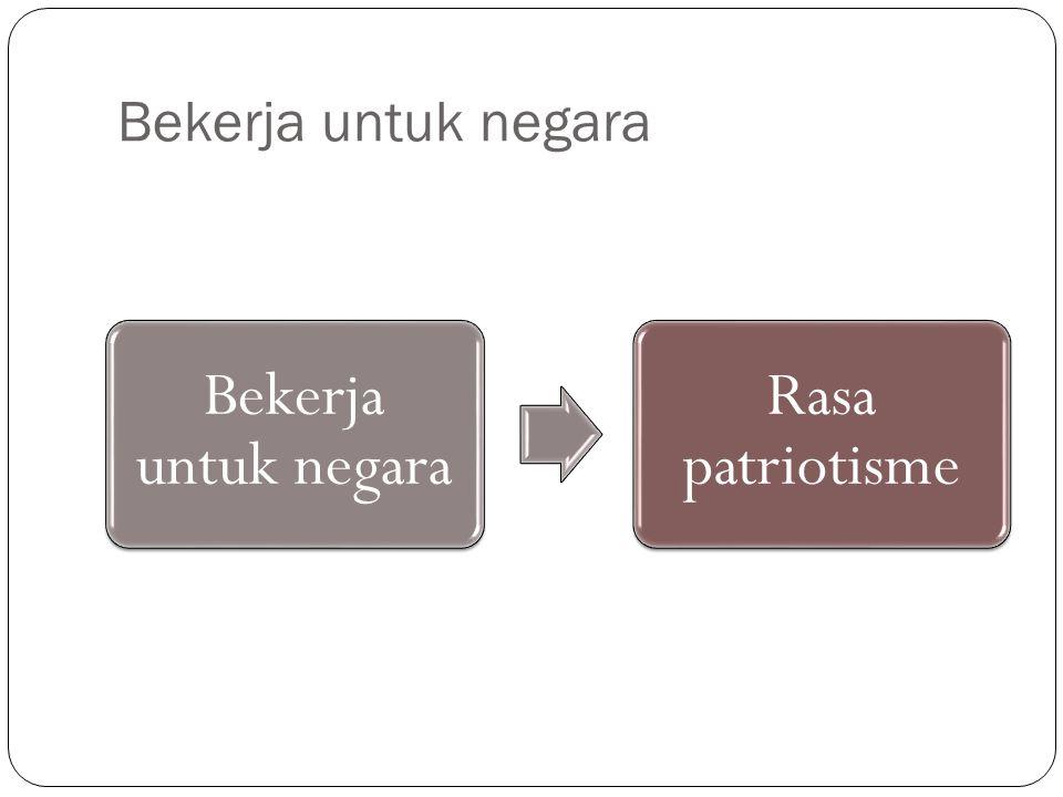 Bekerja untuk negara Bekerja untuk negara Rasa patriotisme