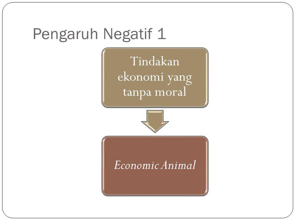 Tindakan ekonomi yang tanpa moral