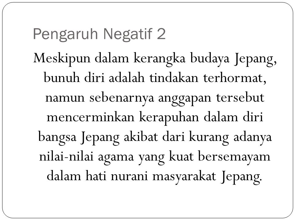 Pengaruh Negatif 2