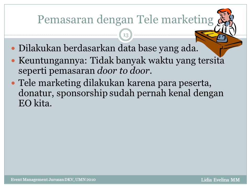 Pemasaran dengan Tele marketing