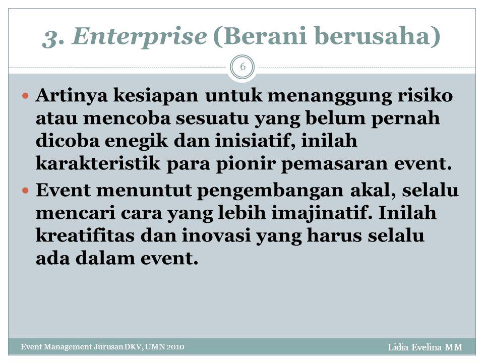 3. Enterprise (Berani berusaha)