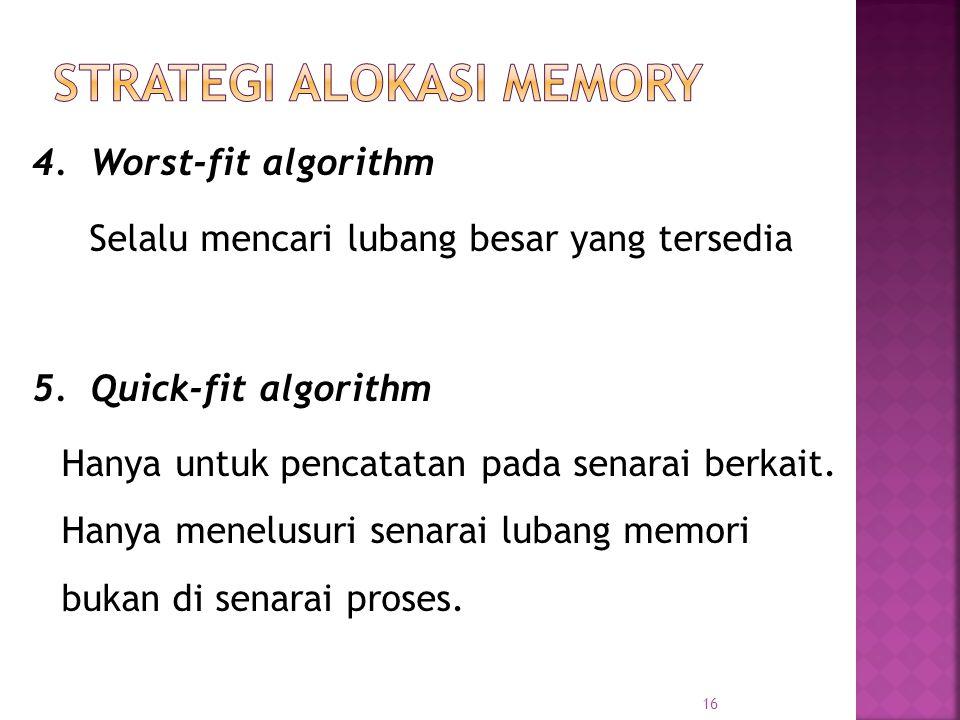 STRATEGI ALOKASI MEMORY
