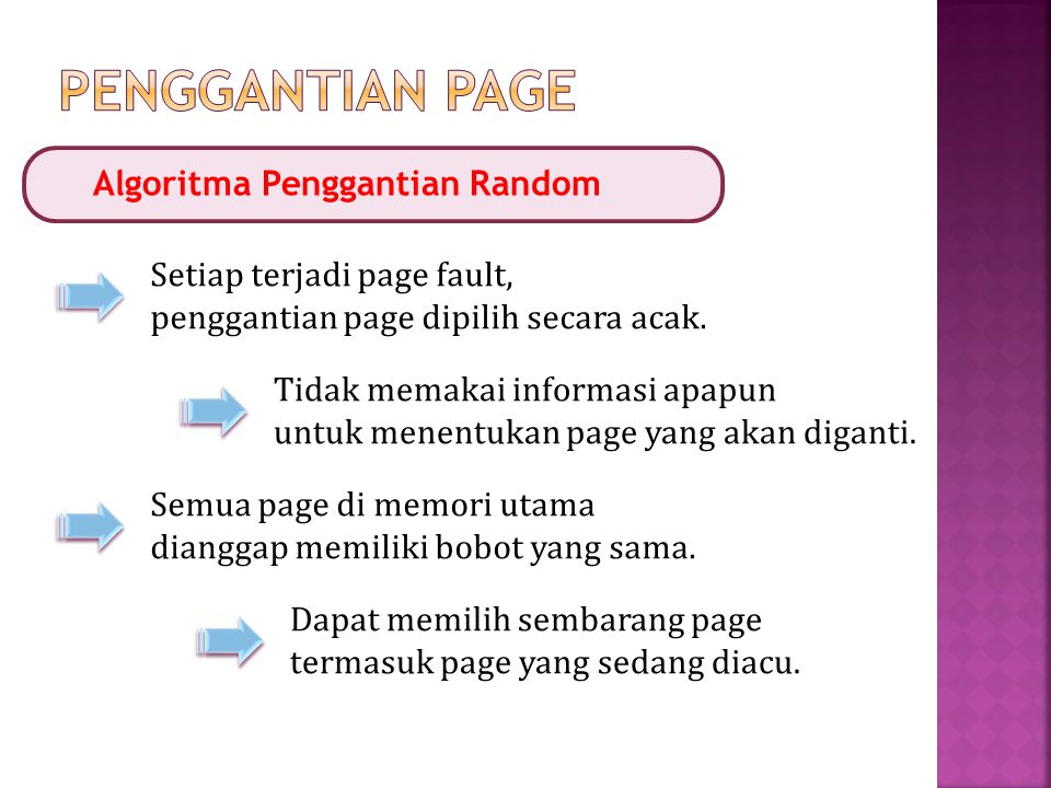 Penggantian Page Algoritma Penggantian Random