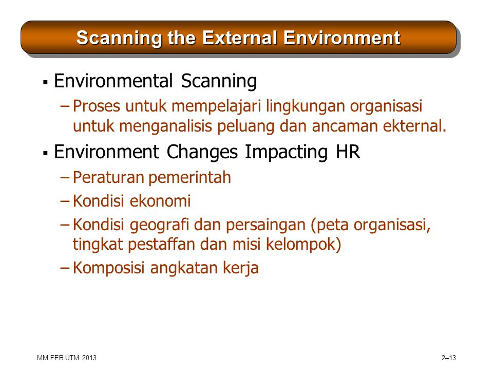 Scanning the External Environment