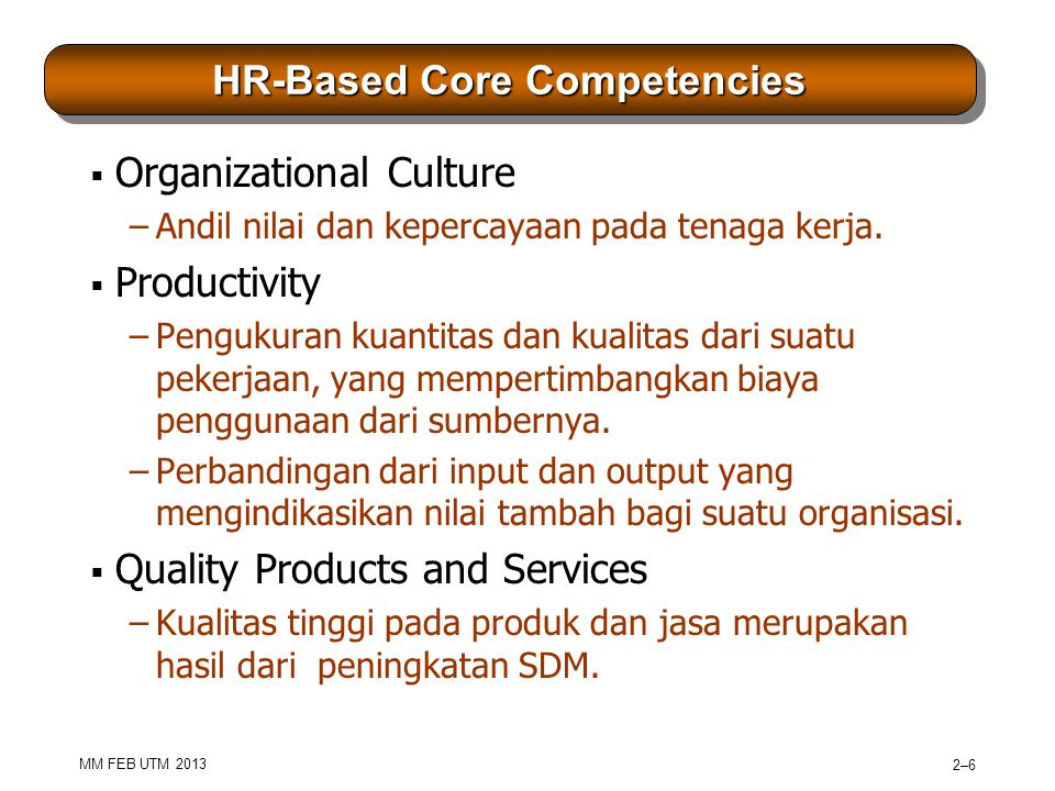 HR-Based Core Competencies