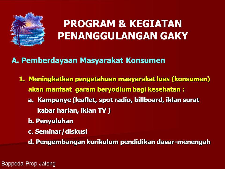 PROGRAM & KEGIATAN PENANGGULANGAN GAKY