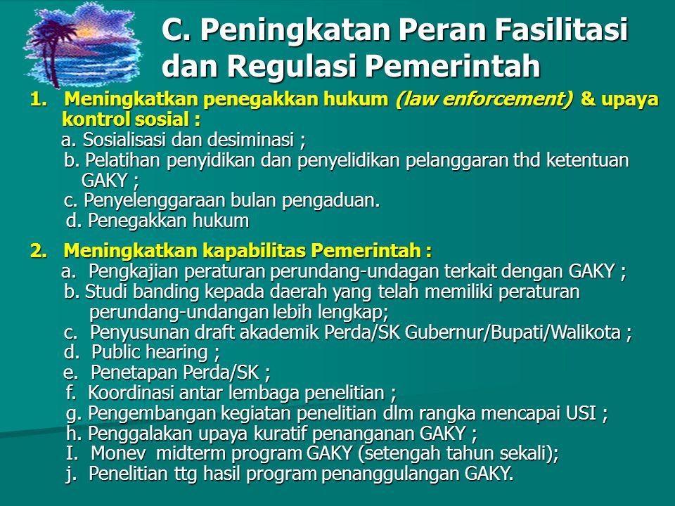 C. Peningkatan Peran Fasilitasi dan Regulasi Pemerintah