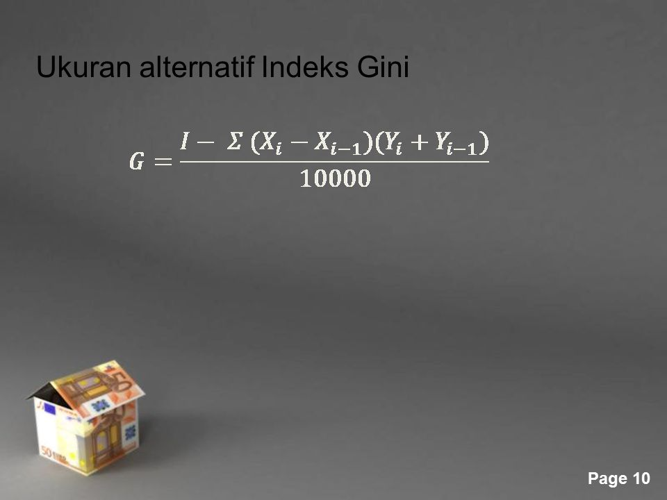 Ukuran alternatif Indeks Gini