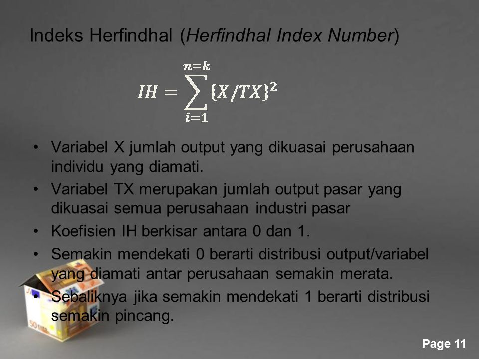 Indeks Herfindhal (Herfindhal Index Number)