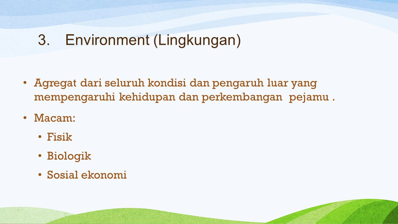 Environment (Lingkungan)
