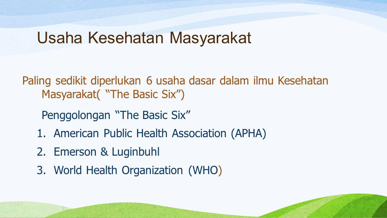 Usaha Kesehatan Masyarakat