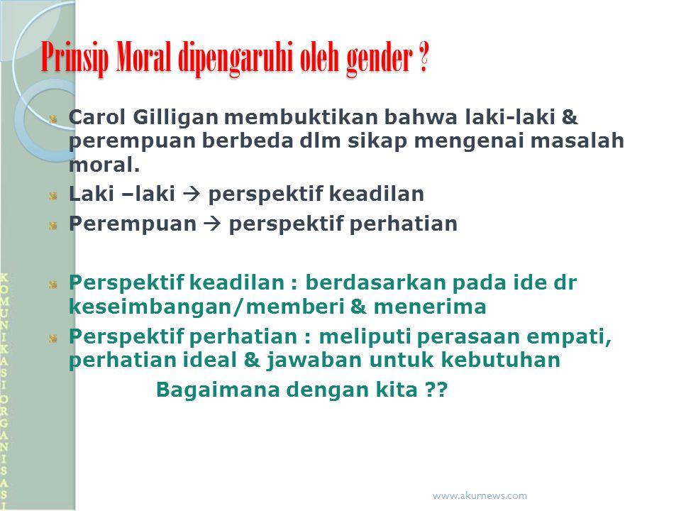 Prinsip Moral dipengaruhi oleh gender