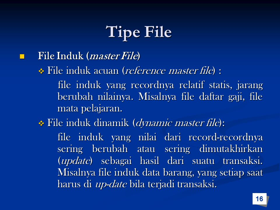 Tipe File File Induk (master File)
