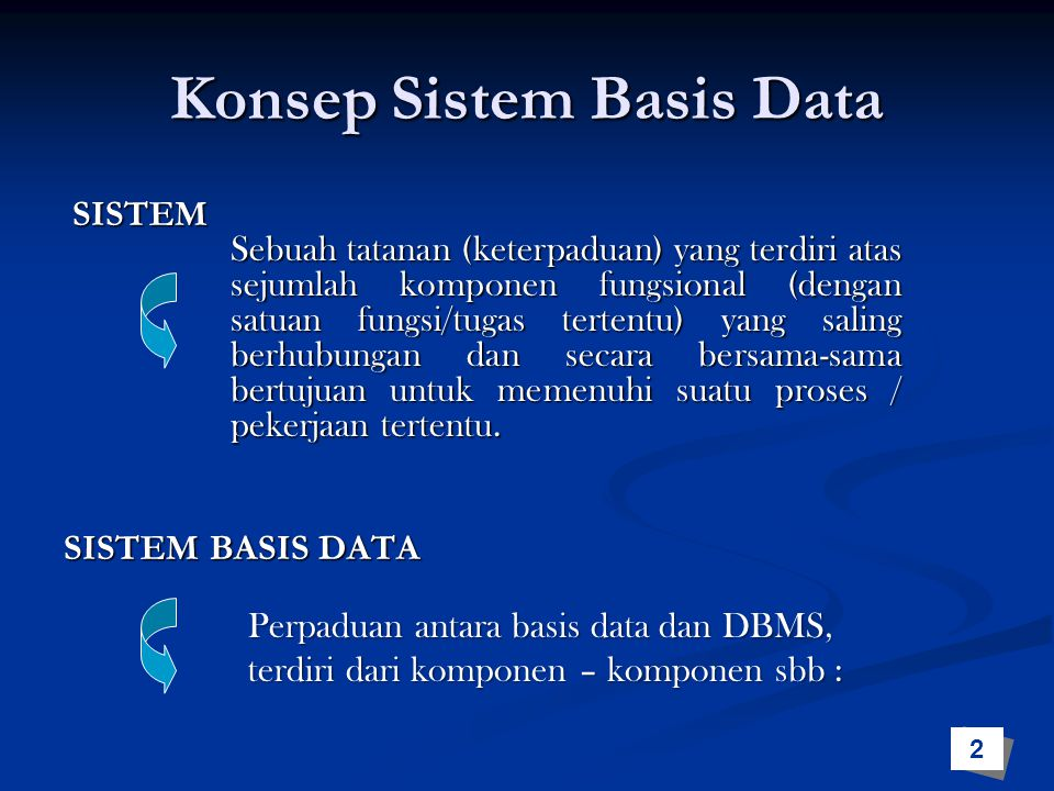 Konsep Sistem Basis Data