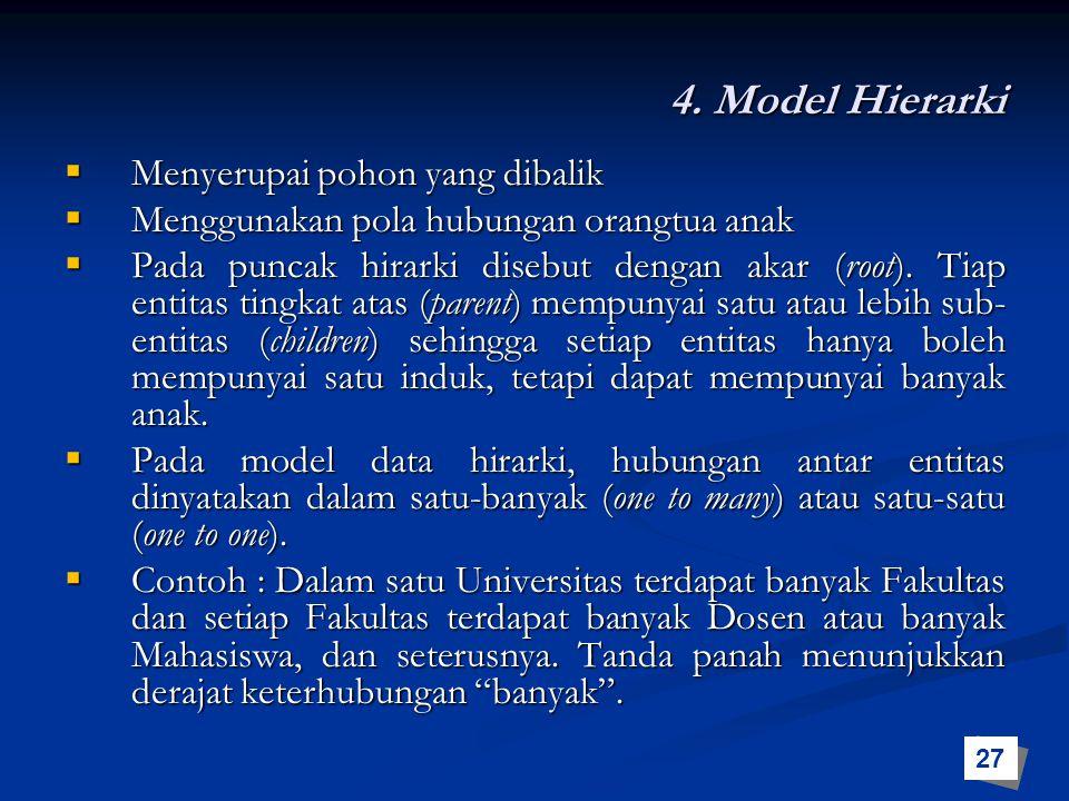4. Model Hierarki Menyerupai pohon yang dibalik