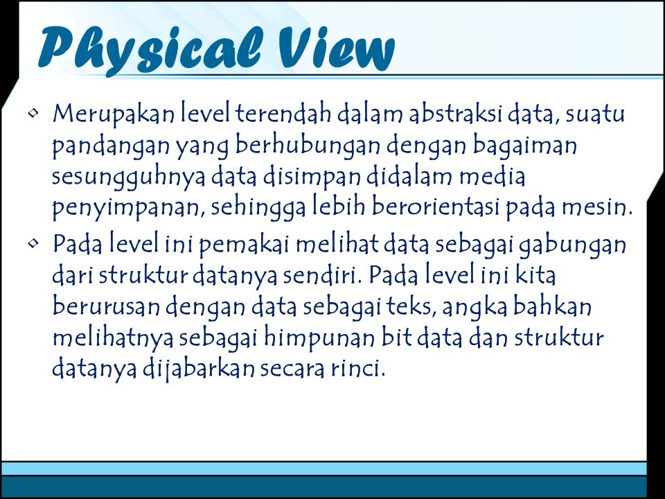 Physical View