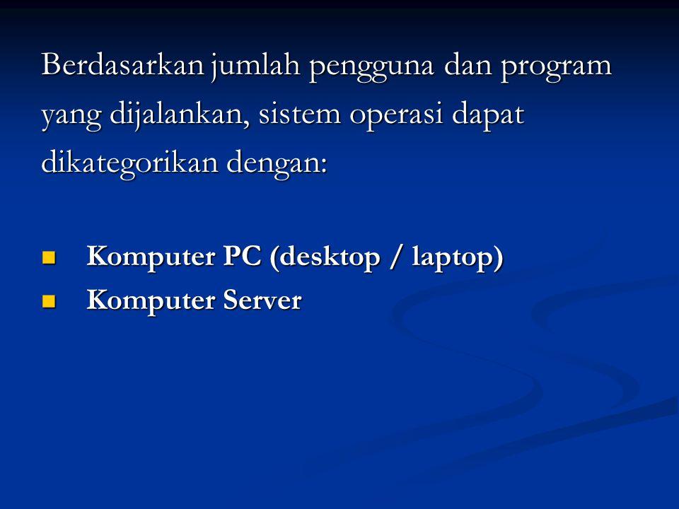Berdasarkan jumlah pengguna dan program