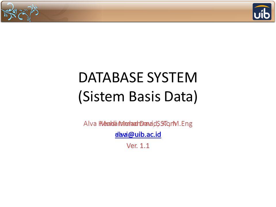 DATABASE SYSTEM (Sistem Basis Data)