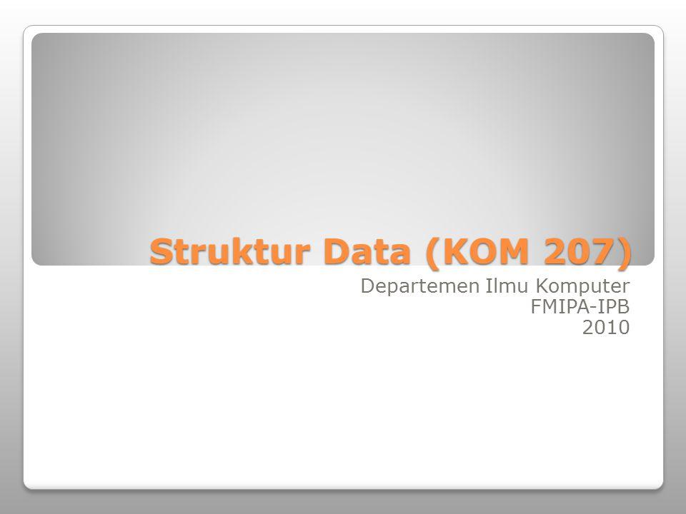 Departemen Ilmu Komputer FMIPA-IPB 2010