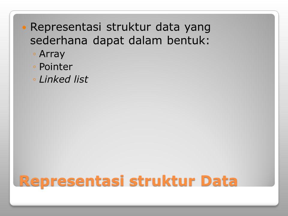 Representasi struktur Data