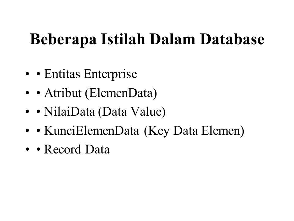 Beberapa Istilah Dalam Database