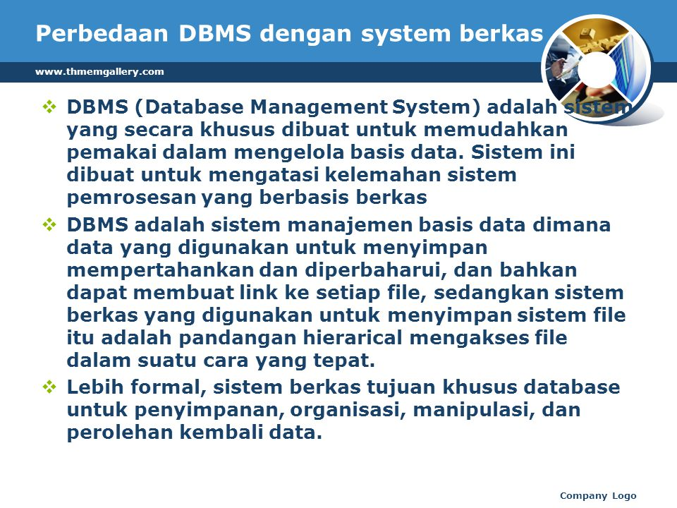 Perbedaan DBMS dengan system berkas