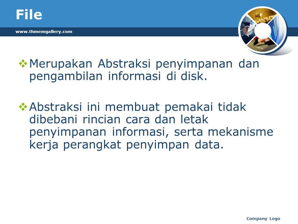 File www.thmemgallery.com. Merupakan Abstraksi penyimpanan dan pengambilan informasi di disk.