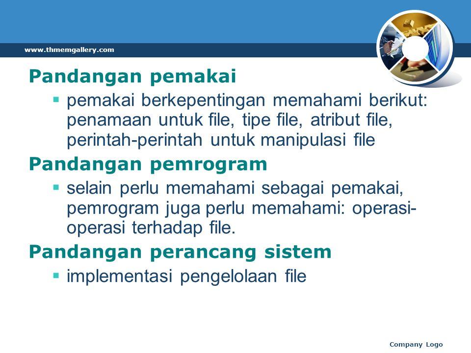 Pandangan perancang sistem implementasi pengelolaan file