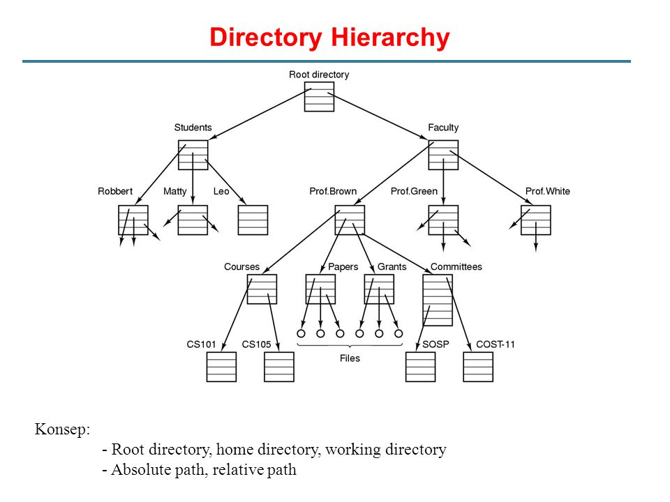 Directory Hierarchy Konsep: