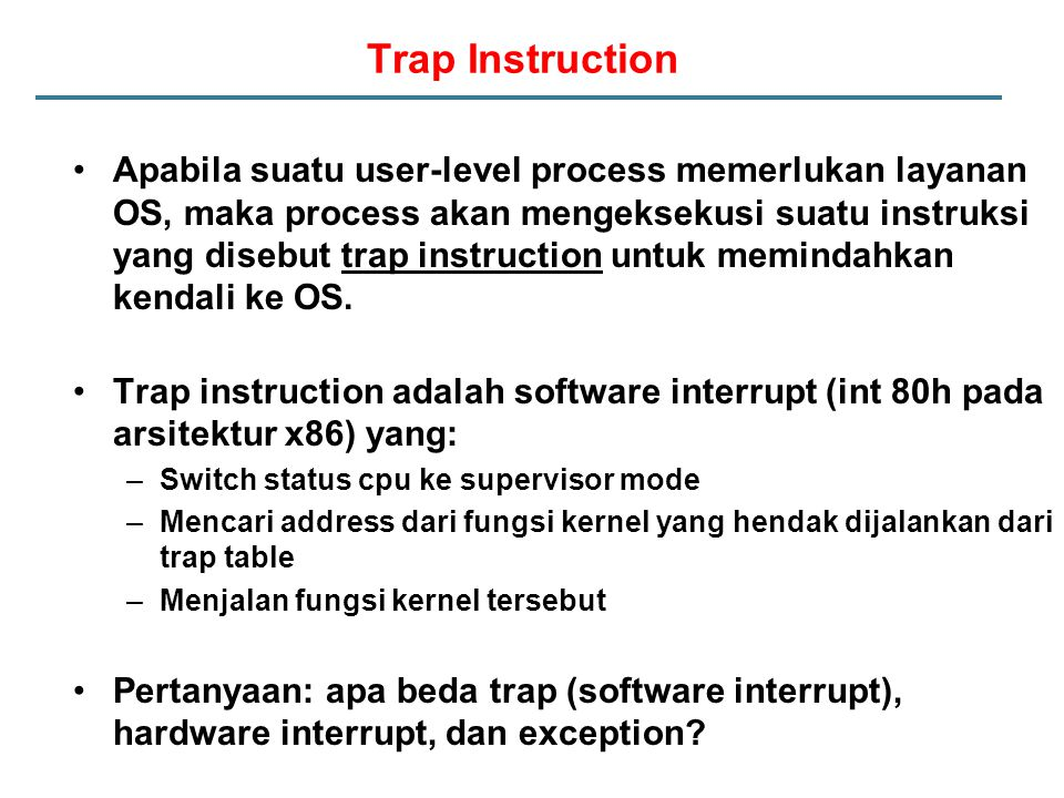 Trap Instruction