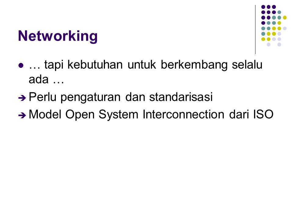 Networking … tapi kebutuhan untuk berkembang selalu ada …