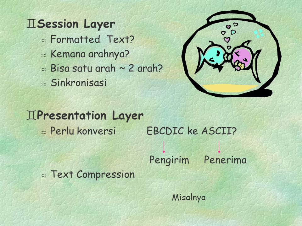 Session Layer Presentation Layer Formatted Text Kemana arahnya