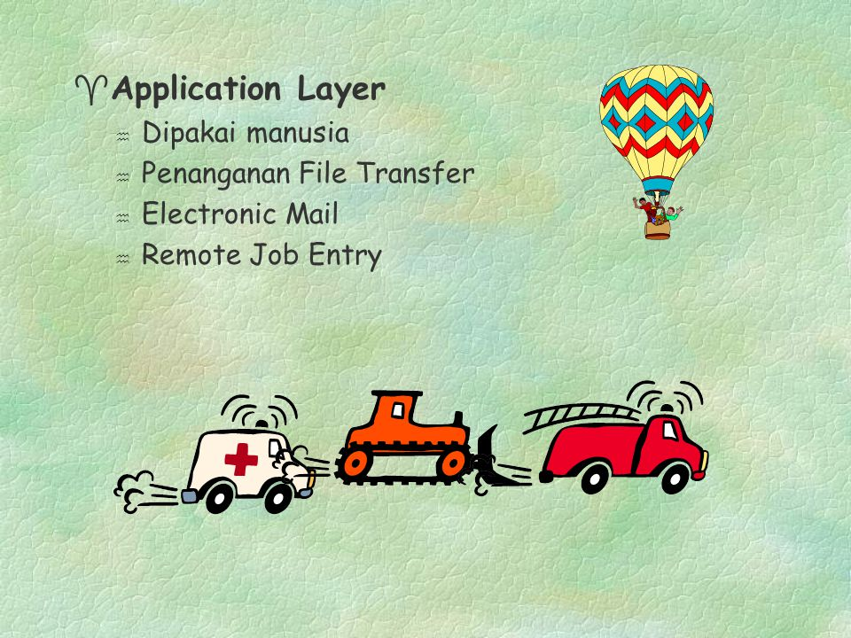 Application Layer Dipakai manusia Penanganan File Transfer