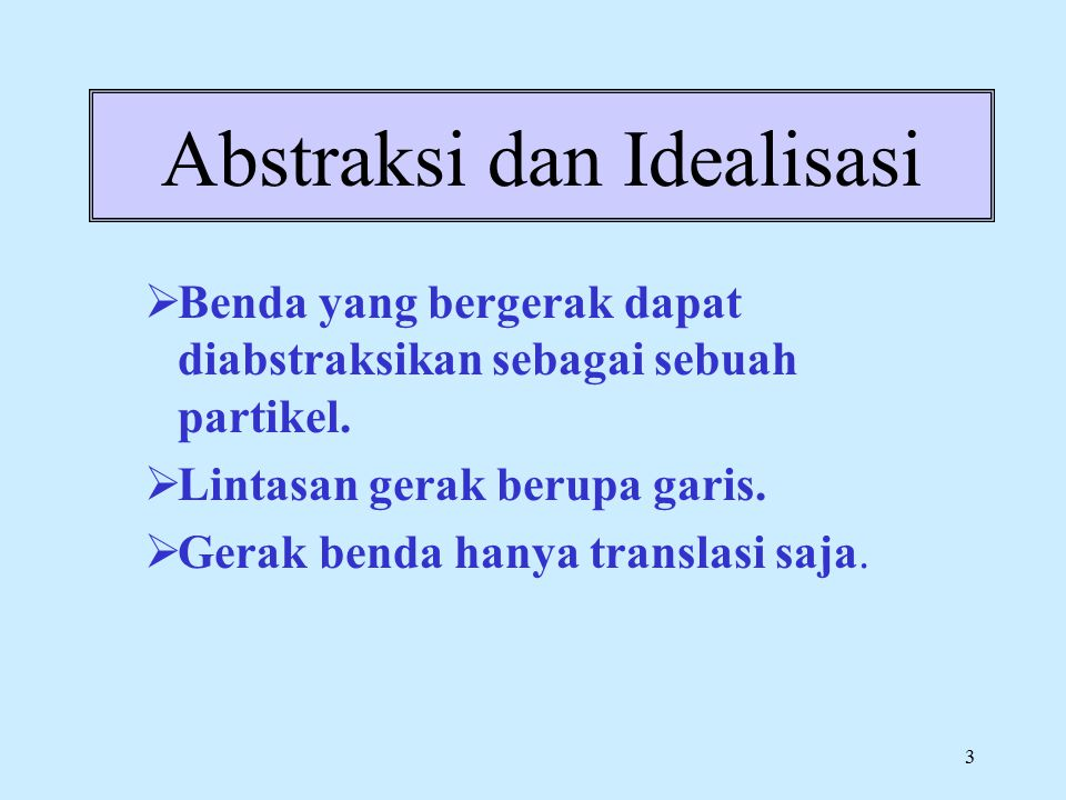 Abstraksi dan Idealisasi