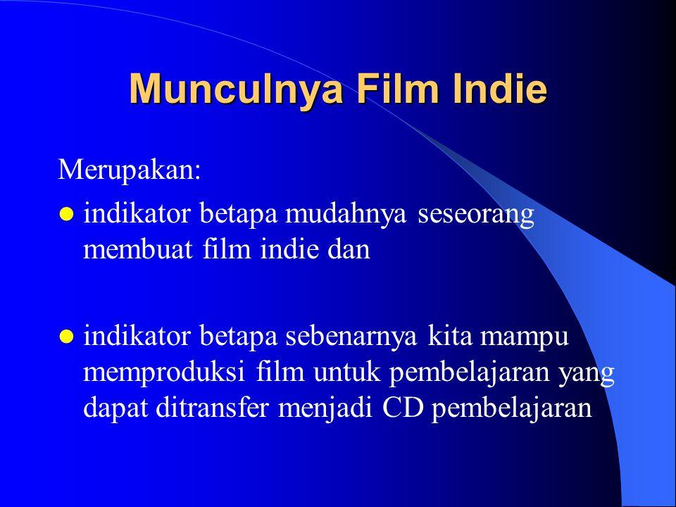 Munculnya Film Indie Merupakan: