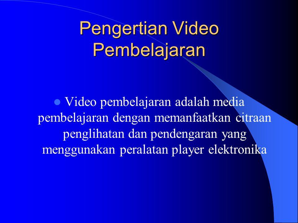 Pengertian Video Pembelajaran
