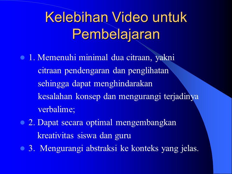 Kelebihan Video untuk Pembelajaran