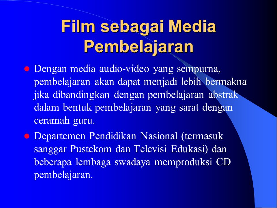 Film sebagai Media Pembelajaran