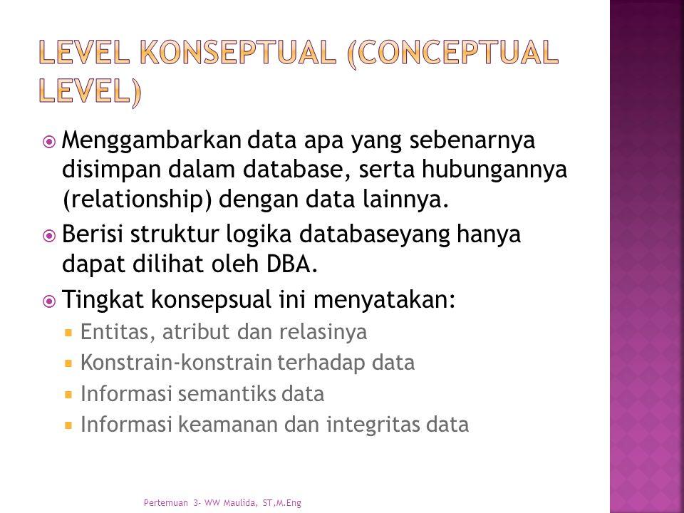 Level konseptual (conceptual level)