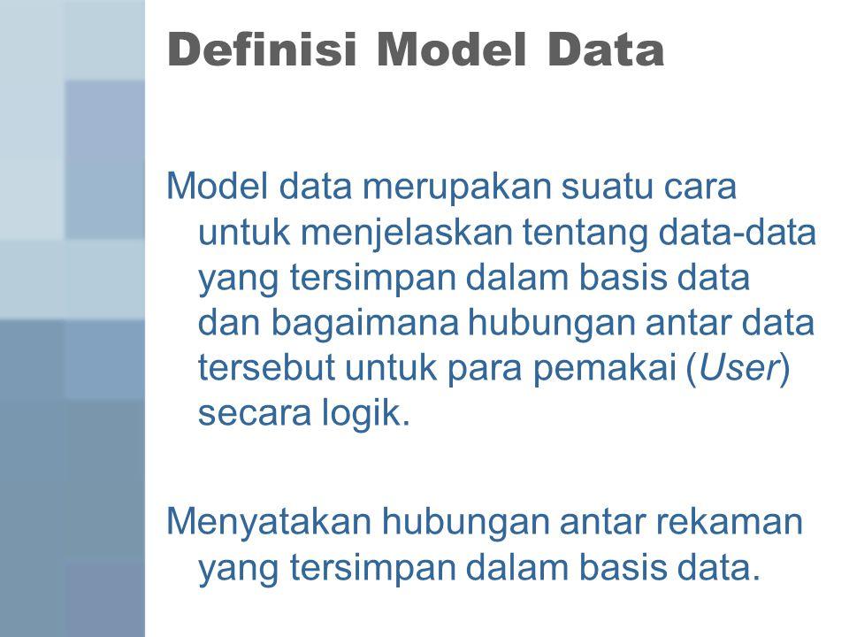 Definisi Model Data
