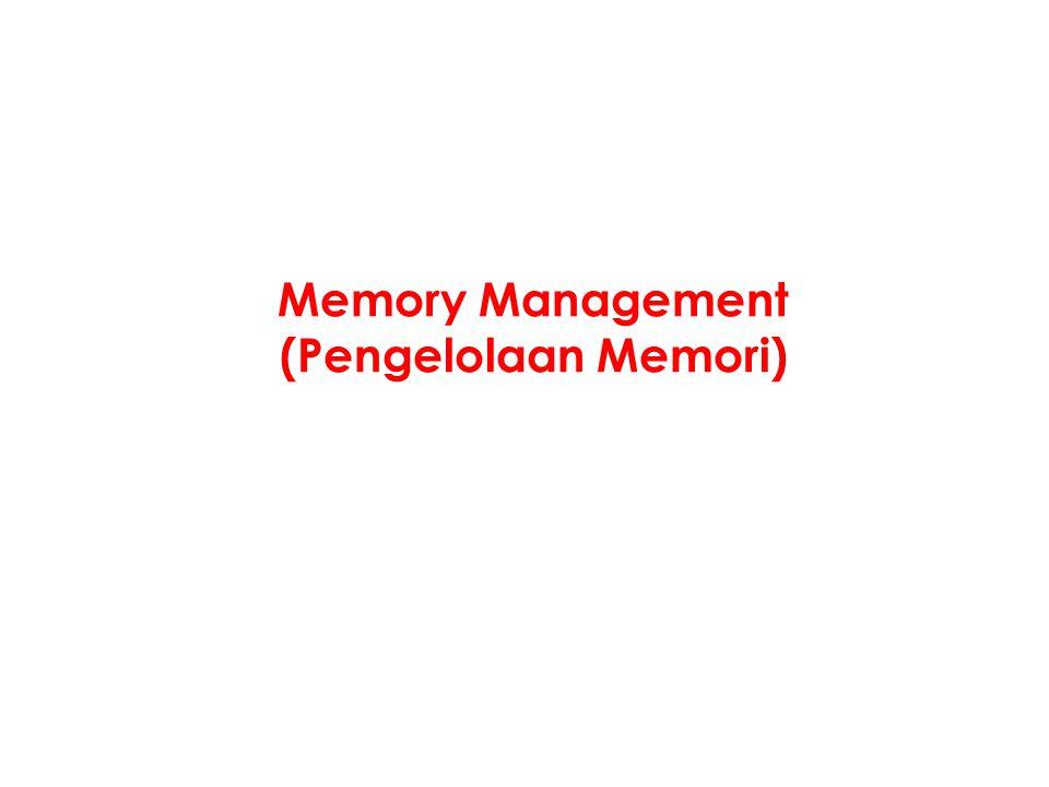 Memory Management (Pengelolaan Memori)