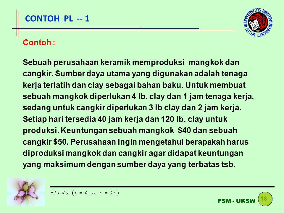 CONTOH PL -- 1 Contoh :