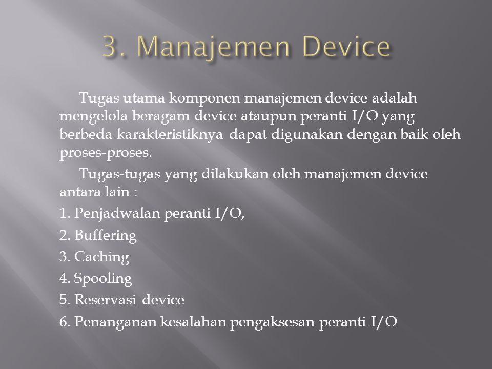 3. Manajemen Device