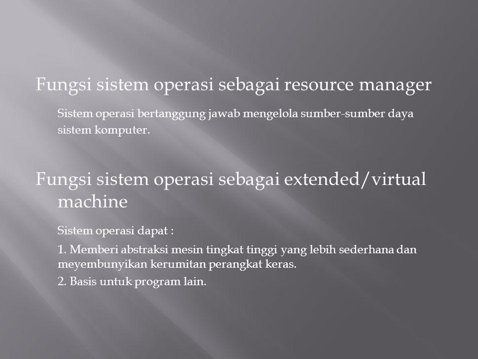 Fungsi sistem operasi sebagai resource manager